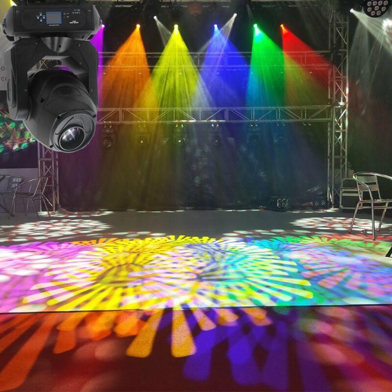 U`king 100W RGBW Stage Light LED Spot Moving Head DMX Disco DJ Party GOBO Light