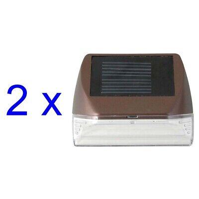 Solar Powered Mini LED Deck Light /Step Light, Bronze Finish, 2-Pack *BRAND - Led Mini Deck Light