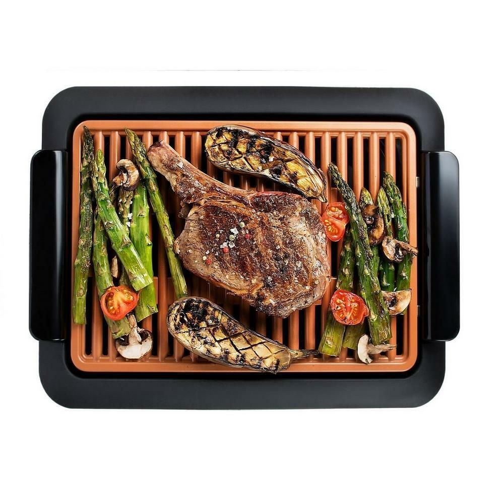 Smokeless Indoor Electric Grill with Interchangeable Griddle