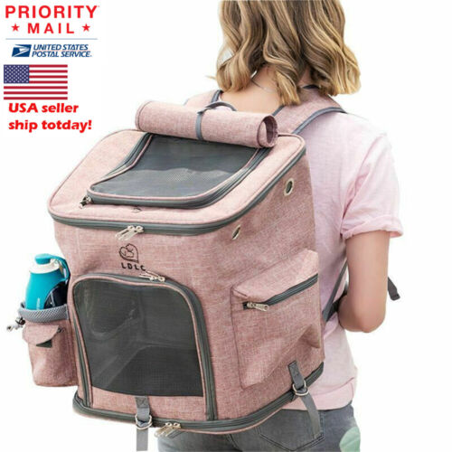 LDLC Cat Carrying Pet Backpack Dog Breathable Pet Carrier foldable Shoulder Bag