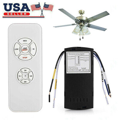 Universal 15M Ceiling Fan Lamp Light Timing Wireless Remote Control Receiver Kit