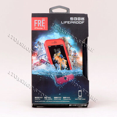 LifeProof FRE iPhone 7 iPhone 8 Waterproof Hard Shell Case Ember Red Teal Blue