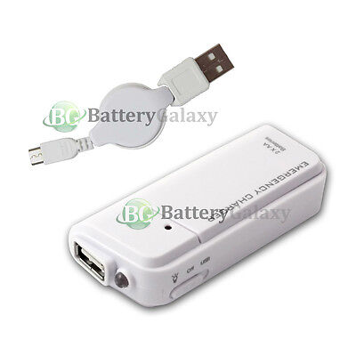 Portable Charger+USB Micro Data Retractable Cable for Android Cell Phone 50+SOLD