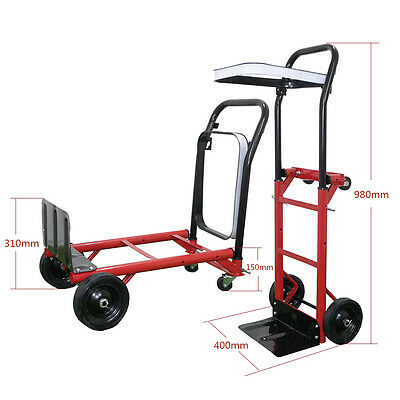 80kg Heavy Duty Folding Hand Truck Sack Trolley Barrow Cart Garden Platform move