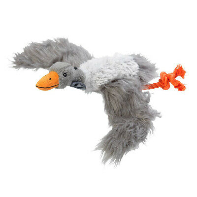 House of Paws Winter Woodland Goose Plush Dog Toy | Christmas Squeaky Medium Pet