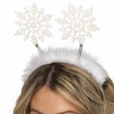 Schneeflocken Bommel Kopfschmuck Stirnband Glitzer Weihnachten Kostüm - Schneeflocke Kostüm Schmuck