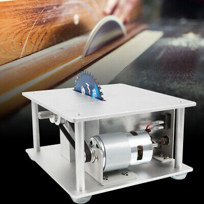 Mini Electric Precision Bench Top Table Saw Woodworking 3 Bladescutting Plate