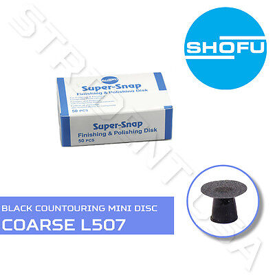 Shofu Super Snap Contouring Mini Disc Coarse Black 50 Per Box Sh - L507