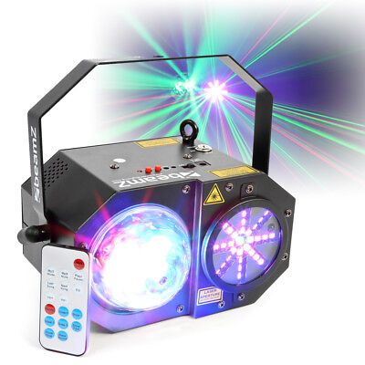 Sway LED Jellyball DJ Light and Star Laser Strobe Chase Wash Disco Party Effect
