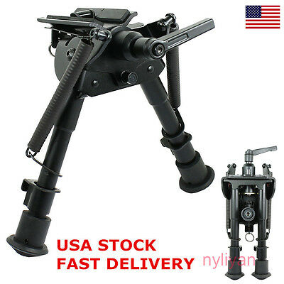 Us Stock 6   9  Harris Style Bipod Pivot Lock Sling Swivel Rotating For Rifle