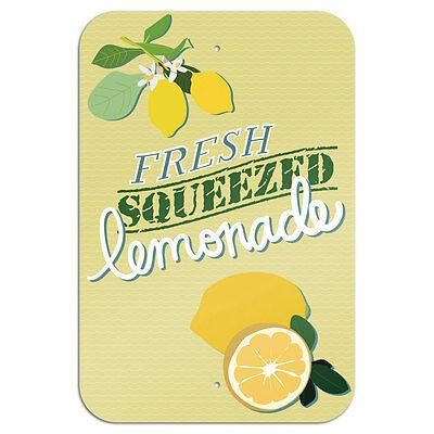 Fresh Squeezed Lemonade Novelty Metal Sign 6