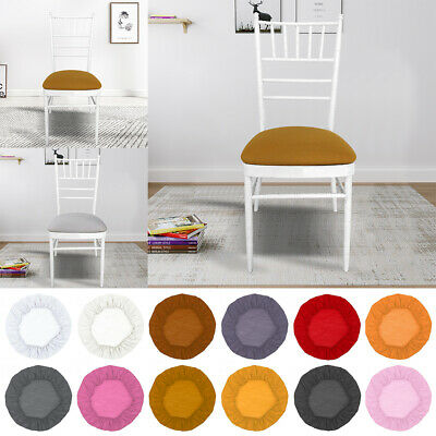 2/4pc Round Removable Stretch Slipcovers Thicken Home Dining Chair Seat Cover US