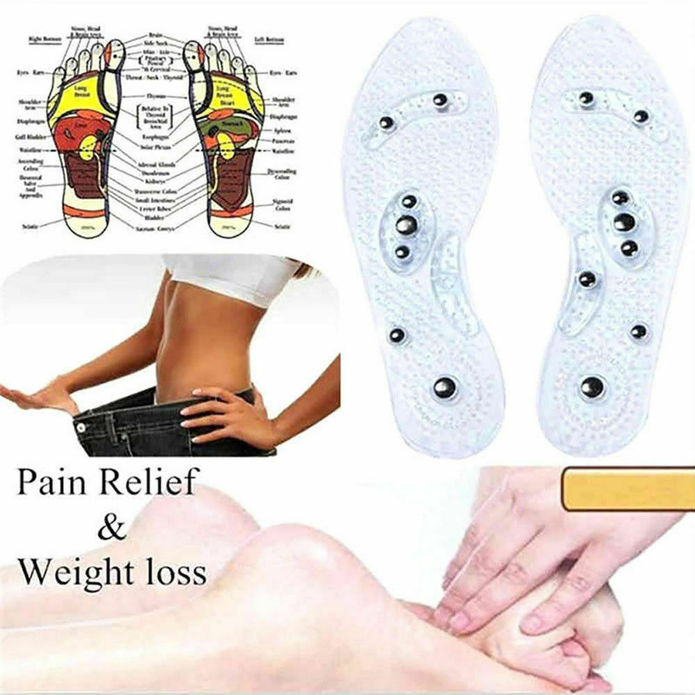 Acupressure Massage Shoes Insole Magnetic Therapy Reflex Pressure Points Feet Ebay