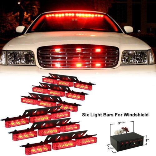 red 54 led emergency hazard car truck vehicle police grill. Black Bedroom Furniture Sets. Home Design Ideas