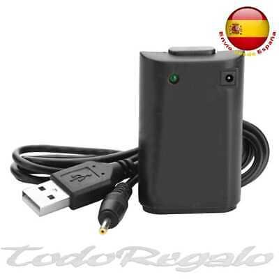 Bateria Recargable para mando consola xbox 360 Xbox360 Negro cable carga USB