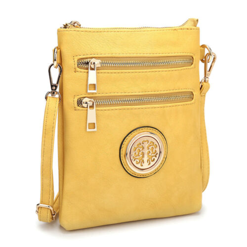 Dasein Womens Handbags Leather Crossbody Bag Messenger Bags