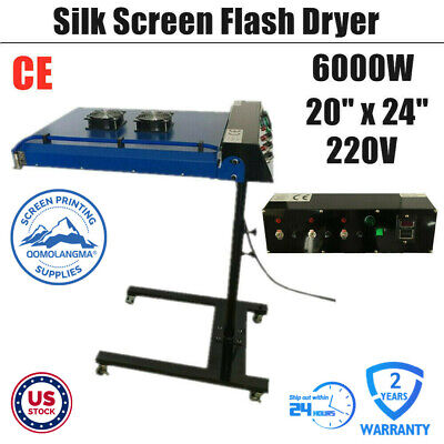 Us Stock-220v 20 X 24 Automatic Ir Flash Dryer With Sensor For Screen Printing