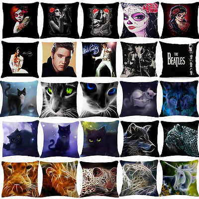 Cheshire Cat Elvis Presley Cotton Linen Pillow Cover Pillow Cases Cushion Covers