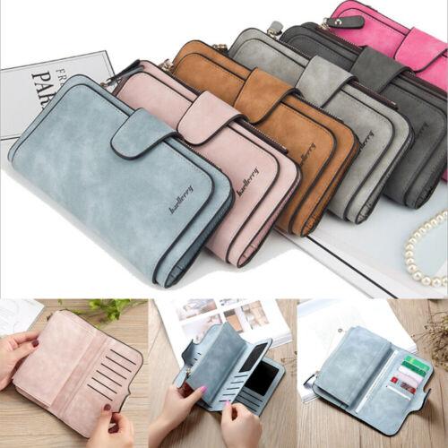 Women Clutch Leather Wallet Long Card Holder Phone Bag Case
