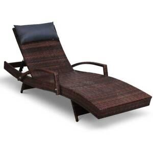 Gardeon Outdoor Sun Lounge Furniture Day Bed Wicker Pillow Sofa S