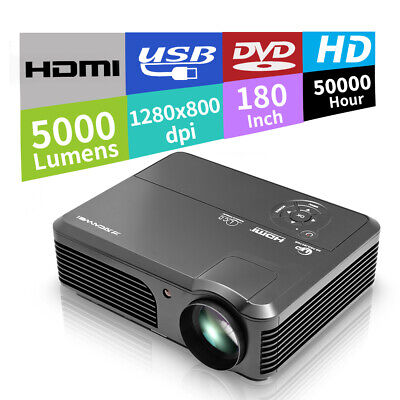 CAIWEI A6 HD Multimedia LED Projector for Home Theater Movie Game Party HDMI USB