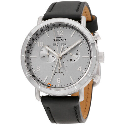 Shinola The Canfield Quartz Movement Silver Dial Men's Watch S0120141500