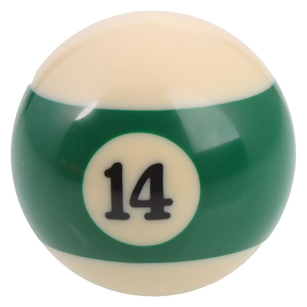 "GRG New 2.25"" Number 14 Ball - Regulation Size Billiard Pool Replacement  - Green Stripe at Sears.com"