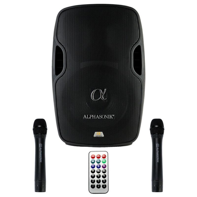 "Alphasonik AKDJ112BAT 12"" Portable Battery Powered DJ Speaker System NEW"
