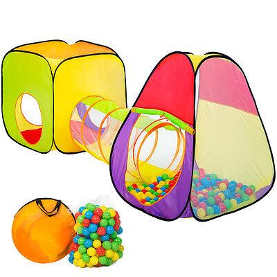 200 Bälle + Tasche Spielzelt Bällebad Krabbeltunnel Würfel (Kinder Zelte)
