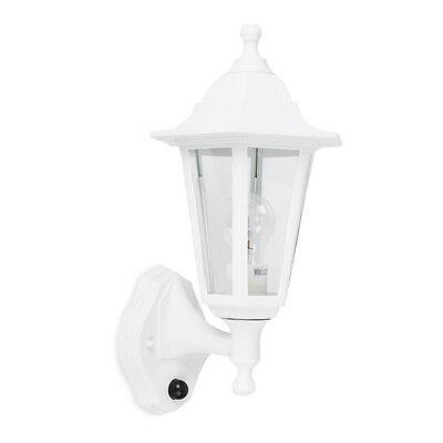 IP44 White PIR Sensor Outdoor Garden Outside Security Wall Light Lantern Lights