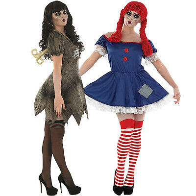 Scary Rag Doll / Wind Up Doll Costumes - Womens Halloween Fancy Dress