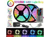 LED Strip Lights 10M RGB Color Changing Tape Cabinet Kitchen TV Lighting