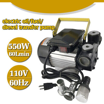 Self Priming Electric Oil Pump Transfer Fuel Diesel 110v Ac With Aluminum Casing