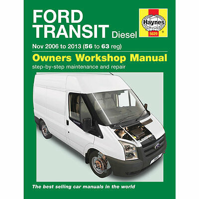 Ford Transit 2.2 2.4 TDCi Diesel 2006-13 (56 to 63 reg) Haynes Workshop Manual