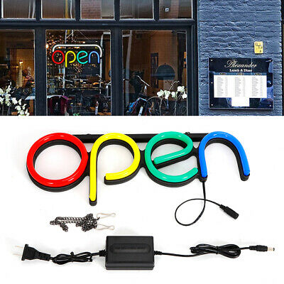 Neon Light Shop Open Sign Led Colorful Tube Visual Artwork Bar Club Wall Decor
