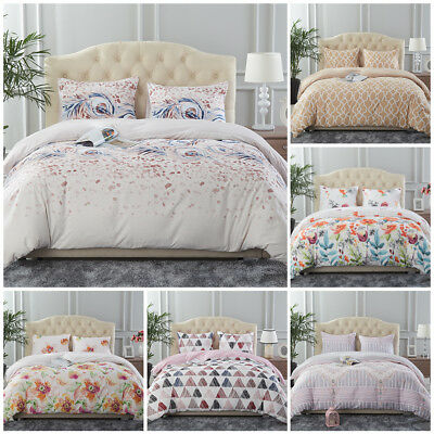 3 Piece Printed Duvet Cover Comforter Quilt Bed Cover Bedding Set Queen/King