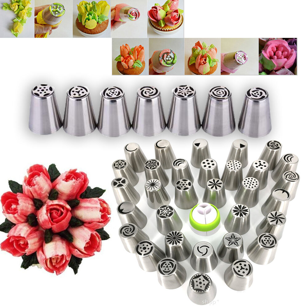 Russian Tulip Flower Cake Icing Piping Nozzles Decorating