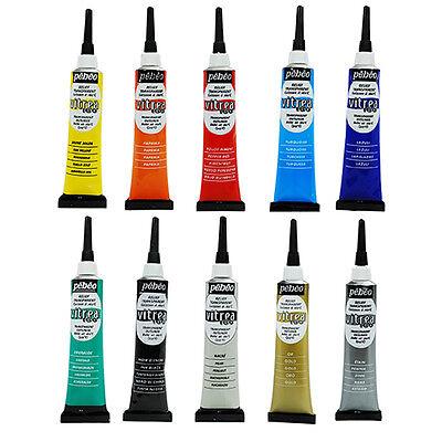 Pebeo Vitrea 160 Gefleckt Glas Malen 3D Relief-Outliner 20ml Tube 10 Farben (Pebeo Vitrea 160 Farbe)
