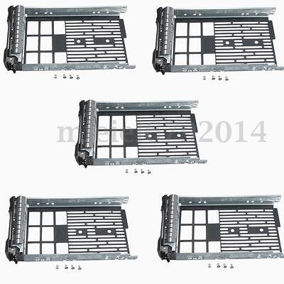 5Pcs 3.5'' SAS SATA Hard Drive Tray Caddy for Dell R710 R510 R410 T610 Caddies