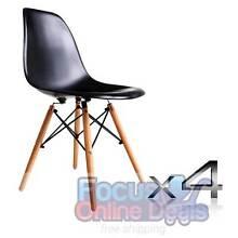 Set of 4 Replica Eames Eiffel DSW Dining Chair Black West Melbourne Melbourne City Preview