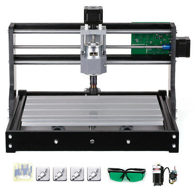 Cnc3018 Diy Router Kit 5500mw Laser Engraving Machine Grbl Control 3 Axis H2b9