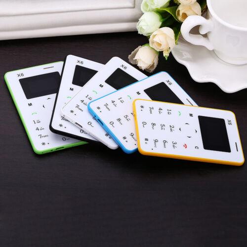 "1"" AIEK X6 Quad Band Card Phone Bluetooth 3.0 FM Audio Player"