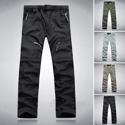 Uomo Zip-Off Pantaloni Combat casual Cargo Lunghi da lavoro