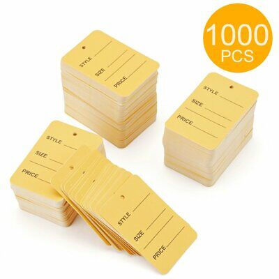 1000pcs Yellow One Part Unstrung Perforated Price Coupon Tag Clothing Price Labe