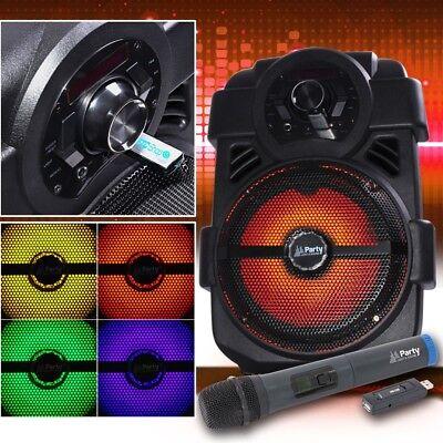 Portable Karaoke Sound System Bluetooth Radio MP3 USB Radio wireless Microphone (Karaoke-sound-system)
