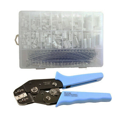 900pcs Jst-xh 2.54mm Connectors Assortment Kit Crimping Tool Crimper Plier Set