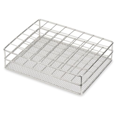 Stainless Steel Test Tube Rack, 25mm, 48 Place, Karter Scientific - 234P3