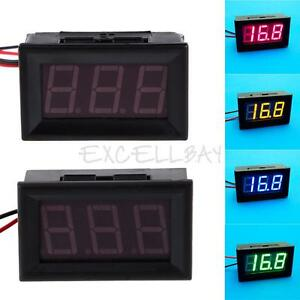 New-Direct-Current-2-Wires-0-56-Inches-LED-Voltmeter-Panel-Mini-Volt-Meter-E0Xc