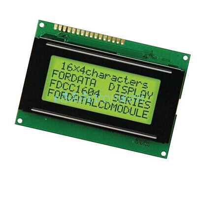 Lcd 16x4 1604 Character Lcd Display Module Lcm Yellow Blacklight 5v For Arduino