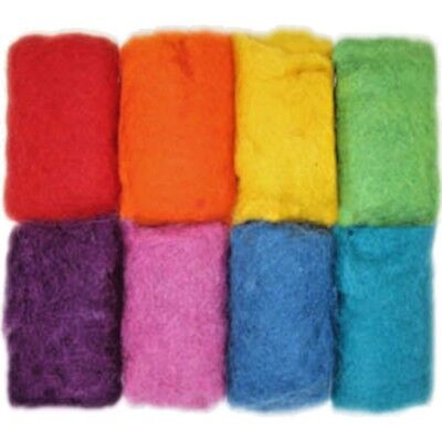 Feltworks 100% Wool Roving Value 8 Pack ~ RAINBOW  2.8  Oz. Dimensions